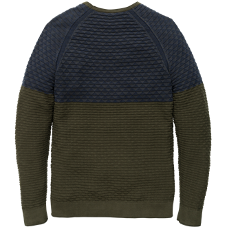 Scotch & Soda V-neck pullover in soft cotton qual