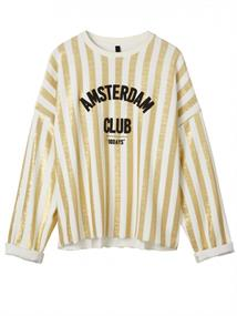 10Days OVERSIZED SWEATER TOWEL STIRPE GOLD