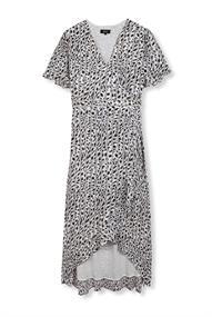 Alix LADIES WOVEN STRIPED LEOPARD DRESS
