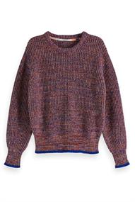 Amsterdams Blauw Chunky pullover in rich cotton mix