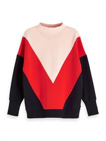Amsterdams Blauw Color block sweat with turtle neck
