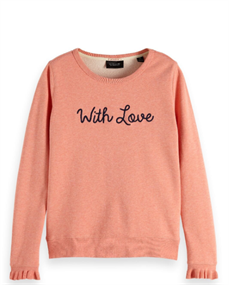 Amsterdams Blauw Crew neck sweat with special cuff a