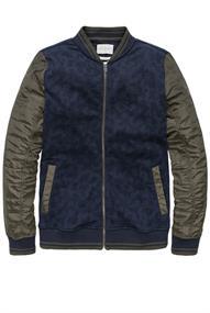 Cast Iron Bomber jacket Printed Interlock