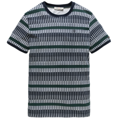 Cast Iron R-neck Printed Line Stripe AOP Jers