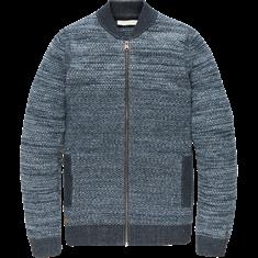 Cast Iron Zip jacket Cotton 3 Tone Mouline