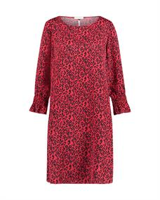 Freebird NINA RED LEOPARD DRESS WV-PES