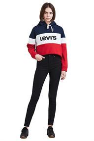 Levi's MILE HIGH SUPER SKINNY BLACK GALAXY