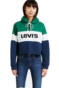 Levi's RAW CUT CB CROP HOODIE COLORBLOCK