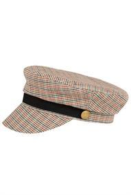 Maison Scotch Blogger cap in menswear pattern