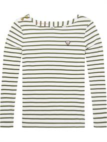 Maison Scotch Classic breton tee with shoulder cl