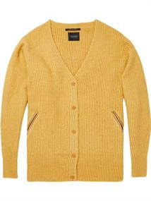 Maison Scotch Cozy knitted cardigan with contrast
