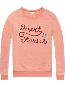 Maison Scotch Crew neck sweat with various artwor
