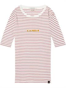 Maison Scotch Crew neck tee with french inspired