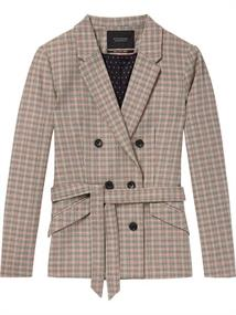 Maison Scotch Double breasted checked blazer with