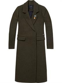 Maison Scotch Double breasted long wool coat