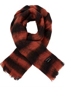 Maison Scotch Fluffy wool checked scarf