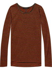 Maison Scotch Long sleeve tee with piping details
