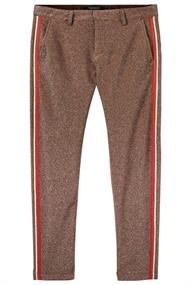 Maison Scotch Lurex tailored pants with tape deta
