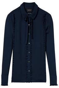 Maison Scotch Shirt with ruffles and shell fabric