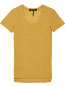 Maison Scotch Short sleeve crew neck tee with pip