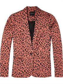 Maison Scotch Slim fit animal printed blazer in s