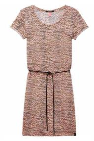 Maison Scotch Straight fit printed tee dress with