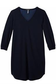 Maison Scotch Stretch v-neck dress with voluminou