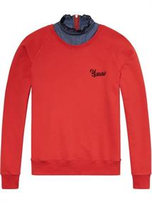 Maison Scotch Super soft sweat with woven collar