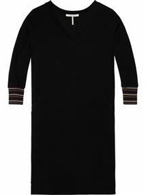 Maison Scotch V-neck long sleeve sweat dress with