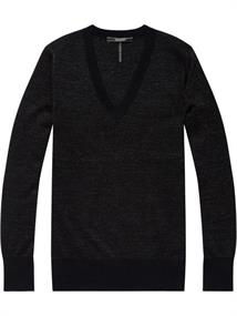 Maison Scotch V-neck lurex knit