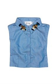 Pinned by K COLLAR BLUE BEES L/XL
