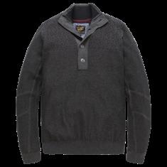 PME Legend Half button collar Cotton Melange