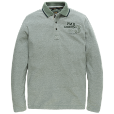 PME Legend Long sleeve polo Two Tone Pique