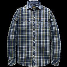 PME Legend Long Sleeve Shirt Indigo Check Gabl