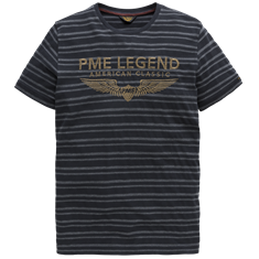 PME Legend Short sleeve r-neck Structured Stri