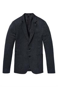 Scotch & Soda Chic blazer in structured weave and