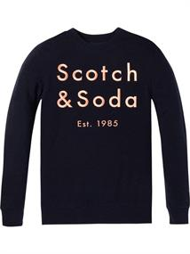 Scotch & Soda Classic crewneck sweat with embroid