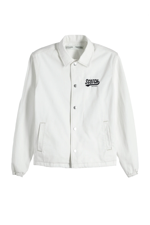 Scotch & Soda Coach jacket with embroidery at bac
