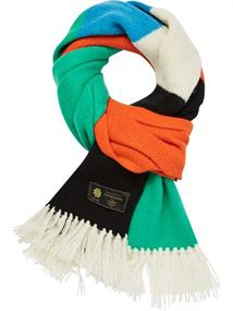 Scotch & Soda Colorful knitted scarf in soft wool
