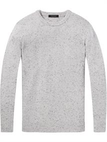 Scotch & Soda Crewneck pullover in wool blend qua