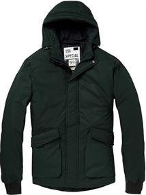 Scotch & Soda Mid-length hooded jacket with tape