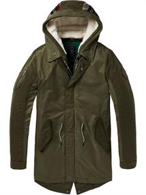 Scotch & Soda Seasonal parka with detachable inne