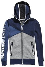 Superdry GYM TECH SPLICED ZIPHOOD