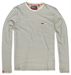 Superdry OL VINTAGE EMBROIDERY L/S PKT STRIPE TEE