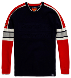 Superdry TRACK EMBOSSED CREW