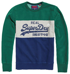 Superdry VINTAGE LOGO PANEL CREW