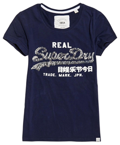 Superdry VINTAGE LOGO SEQUIN ENTRY TEE
