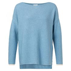 Yaya BASIC Cotton boat neck sweater