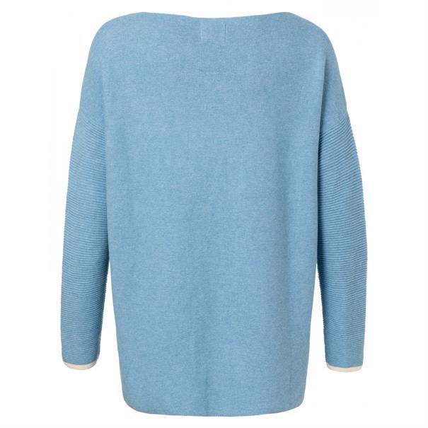 Yaya BASIC Cotton boat neck sweater