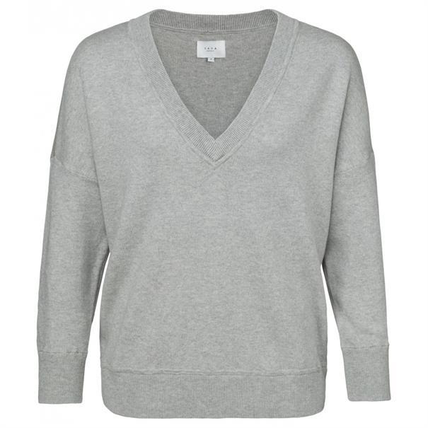 Yaya Boxy V-neck sweater